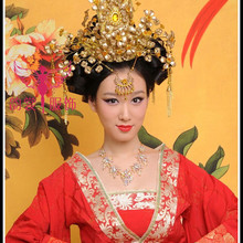 Traditional Chinese Wedding Bride Hair Tiaras Hanfu costume hair accessory bride accessories Chinese style empress hair crown