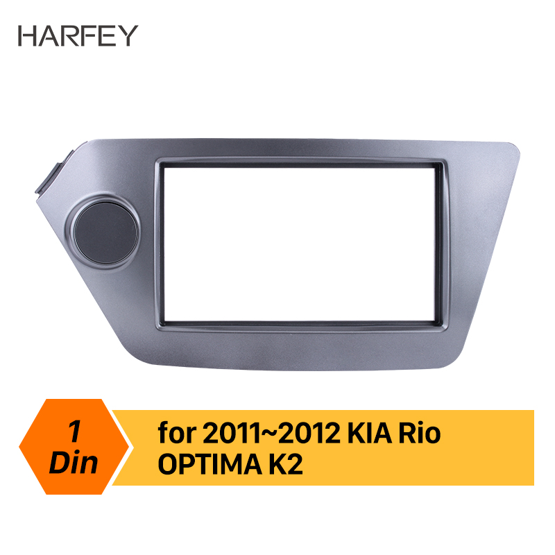 Harfey Double Din Car DVD panel Auto Stereo frame Fascia 173*98/178*100/178*102mm Refitting Kits for KIA Rio OPTIMA Cover Trim