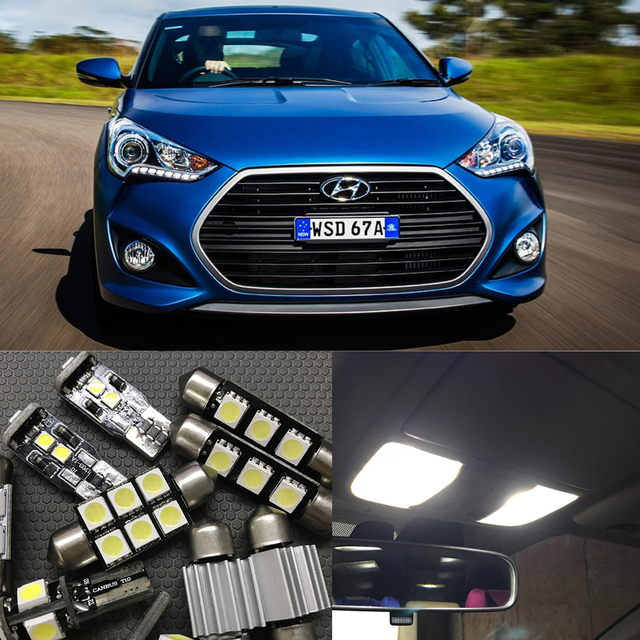 Aliexpress.com : Buy 8pcs White Car LED Interior Auto Bulb Kit For ...