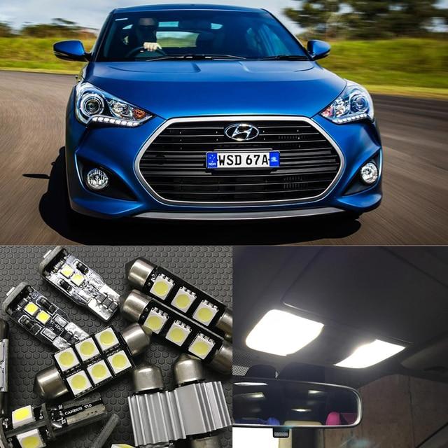 8pcs White Car LED Interior Auto Bulb Kit For 2012 2015 Hyundai ...