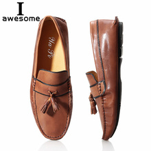 Boat shoes Summer spring Breathable Genuine Leather Flats Loafers Men Casual shoes men Luxury Fashion Slip On Driving shoes цена в Москве и Питере