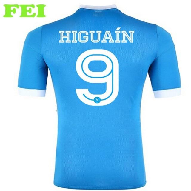 Camisa napoli HIGUAIN CALLEJON l. Insigne MERTENS MICHU napoli camisa de futebol  napoli curta d8acd9fb57b88