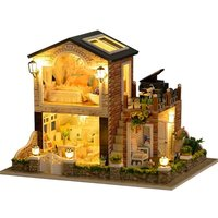 Home decoration accessories Miniature DIY House Kit Creative Room With Furniture and Cover for Interesting birthday Gift for kid