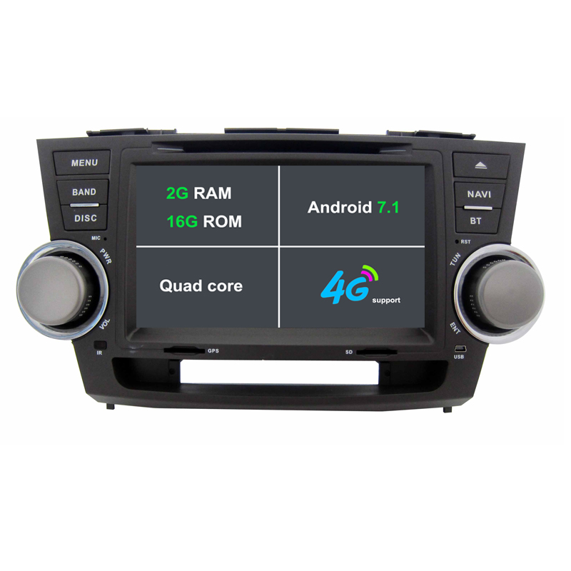 Quad Core Pure Android 7.1 HD 1024*600 RAM 2G 10.1 Car DVD player GPS Stereo Radio For Toyota RAV4 2013 2014 2015 with 3G 4G