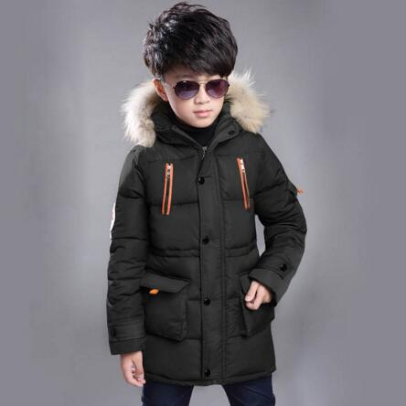 Children Down Jackets 2019 Winter Coats For Boys Warm Hooded Outerwear Parkas Kids Clothing For Boy Snowsuit Jacket 8 10 12 Year