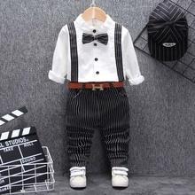hot deal buy toddler boys clothing set 2019 autumn spring boys clothes t-shirt+pant 2pcs outfit kids clothes boy sport suit children clothing