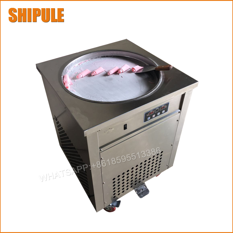 110v 220v Thailand Fried Ice Cream Machine Snack Machine Ice Cream Cold Plate Single Big Pan Fried ice cream roll machine пуловер oodji oodji oo001ewiht90