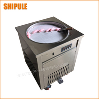 110v 220v Thailand Fried Ice Cream Machine Snack Machine Ice Cream Cold Plate Single Big Pan Fried ice cream roll machine