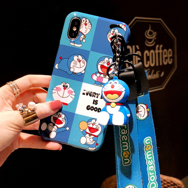 Cute Stitch Lanyard 3D Doll Silicone Personality Drop Case