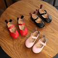 Fashion genuine leather Children's shoes baby girls outdoor Cartoon cute princess Flat toddler shoes Super soft and comfortable