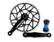 Litepro Super Creux Vélo Pliant CNC Plateau Unique Pédalier Manivelle pour Vélo Brompton