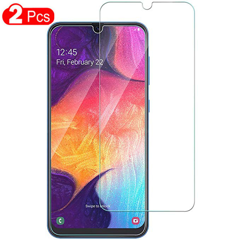 Tempered Glass For Samsung Galaxy A10 A30 A50 A70 Screen Protector Safety Protective Cover Case Film On A 10 30 50 M20 M30 2019