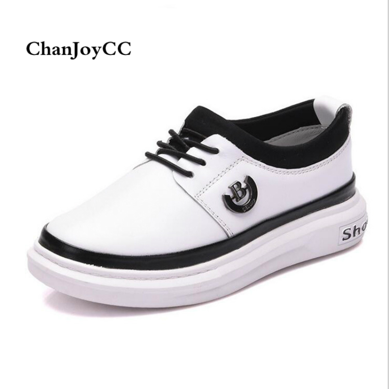 Autumn Kid Casual Shoes Children Fashion Genuine Leather Shoes Boys Girls Comfortable Flat  High-quality Sport Shoes kids shoes girls boys pu leather lace up high children sneakers girl baby shoes sport autumn winter children shoes