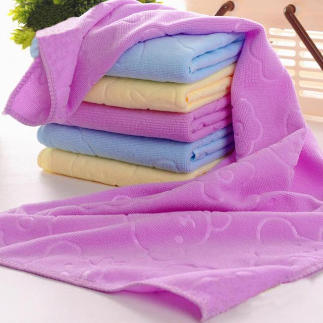 70x140cm Quick-drying Soft fabric towel Absorbent Bear Cartoon Microfiber Beach Bath Towel 3 Colors for Choice
