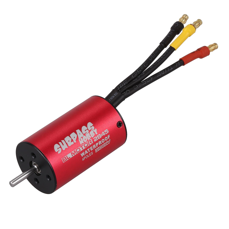 SURPASS HOBBY S2845 3100KV Sensorless Brushless Motor for 1/18 1/16 1/14 RC Car