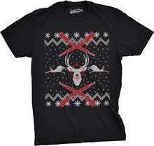 Bigaga Go Tees Deer Hunt Ugly Christmas Sweater Funny Hunter ing Holiday novelty tee shirts Men's T-Shirt