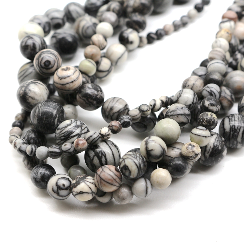 Jewelry-Accessories Bracelet Beads Necklace-Material Network-Stone Diy Natural Ball Scattered