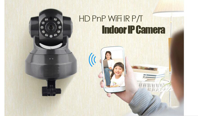 IP Camera 1.0MegaPixel Wireless Night Vision 2 way Audio PnP CCTV Camera Indoor Security Camera Wifi baby monitor baby camera howell wireless security hd 960p wifi ip camera p2p pan tilt motion detection video baby monitor 2 way audio and ir night vision
