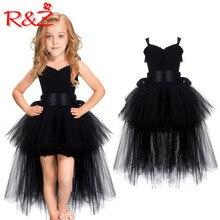 Детское платье R & Z, Новинка лета 2019, детское платье принцессы, одежда для выступлений, Сетчатое платье пачка, кружевное платье