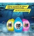 2016 GPS Tracker Часы для Детей Безопасный GPS Часы водонепроницаемые smart watch SOS Вызова Finder Locator Tracker Anti Потерянный Q520S 0.66 цветок