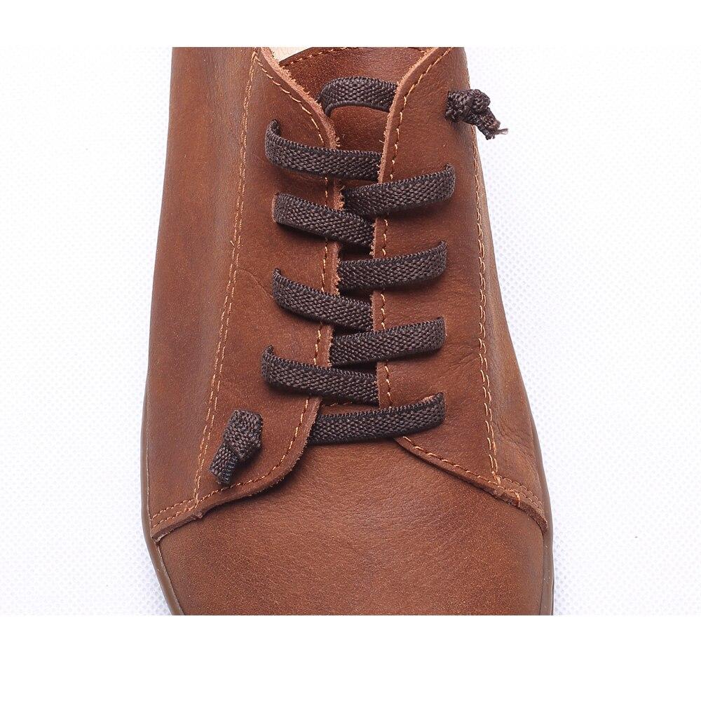 (35-46) femmes Chaussures Plates 100% Cuir Authentique Plaine toe Lace up Dames Chaussures Appartements Femme Mocassins Femme Chaussures (5188- 6) - 4
