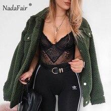 Nadafair свободные ягненка искусственный мех куртка женские зимние пальто однобортный плюшевый мишка пальто теплый мех veste fourrur