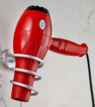 New Arrive Aluminum Wall-mounted Hair Dryer Rack Bathroom Accessories Storage Shelf Hairdryer Holder