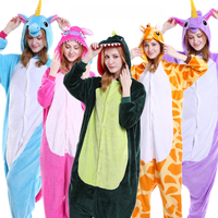 Wholesale Adult Animal Stitch Unicorn Panda Bear Koala Pikachu Onesie Unisex Cosplay Costume Pajamas Sleepwear For