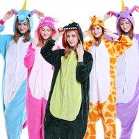 Venta al por mayor Adulta Animal Pikachu Stitch Unicorn Panda Oso Koala Onesie Unisex Cosplay Pijamas Ropa de Dormir Para Hombres de Las Mujeres