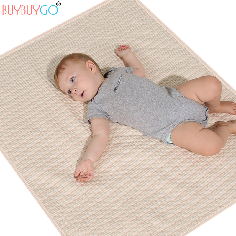3 Layers Natural Colored Cotton Large Baby Changing Pads Covers Nappy Changing Waterproof Washable Cotton Diaper Mat Baby Care