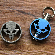 EDC Titanium alloy variants skeleton knives hanging buckle zipper head keychain Multi Tools