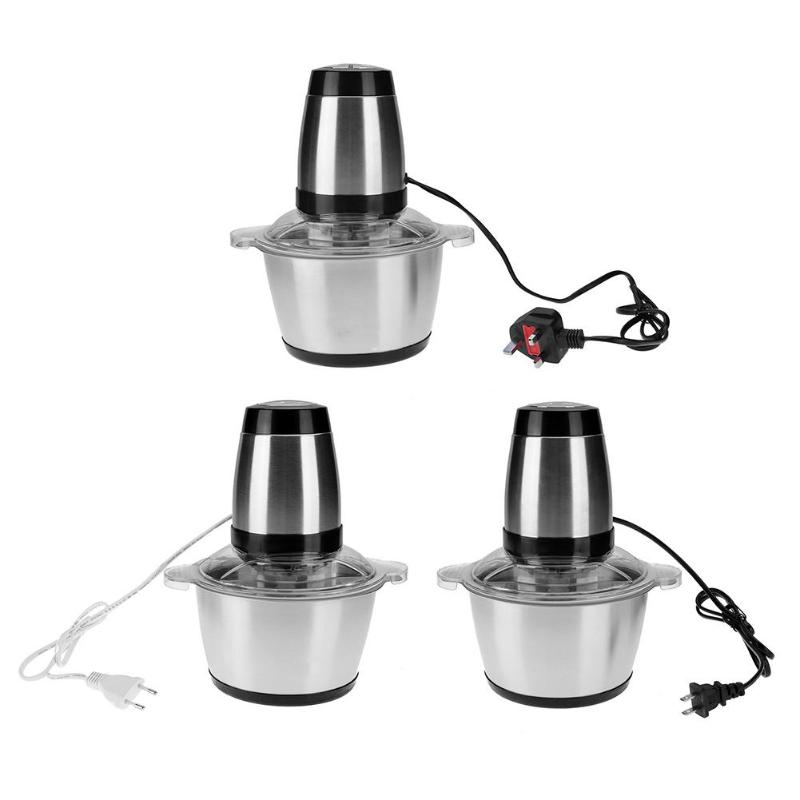 Household 2L Multi-functional Stainless Steel Electric Meat Grinder Meat Mincer 350W 220V Vegetable Juicer for Family Kitchen household appliances electric meat grinder stainless steel meat grinder fully automatic broken vegetables ground meat