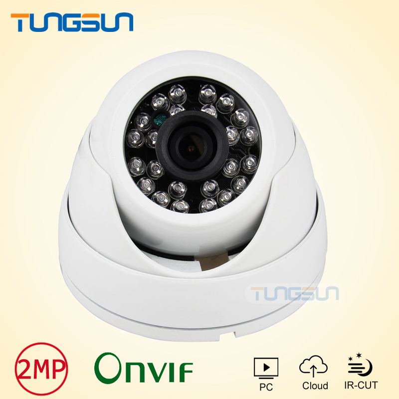 New HD IP Camera 1080P Security Small indoor white ABS Shell Mini Dome Surveillance camera ip CCTV IR Array Onvif WebCam ipcam zea afs011 600tvl hd cctv surveillance camera w 36 ir led white pal