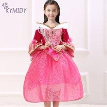 Bebê Menina Vestido de Festa Da Princesa Trajes de Dormir Beleza Cosplay Crianças Vestidos para Meninas Roupas Do Hight Crianças Qualidade 2017 Venda(China (Mainland))