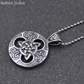 fashion lychee Large Celtic Knot Magic Pendant Necklace Stainless Steel Statement Necklace For Women Men Jewelry Gifts