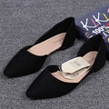 Women Flats 2016 Summer Style Casual Solid Pointed Toe Slip-On Flat Shoes Soft Comfortable Women Shoes Plus Size 36-41