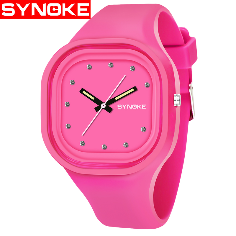 SYNOKE Fashion Quartz Watches Men Women Sport Wrist Watch Top Brand Famous Male Female Clock Silicone Quartz-watch Relogio Clock
