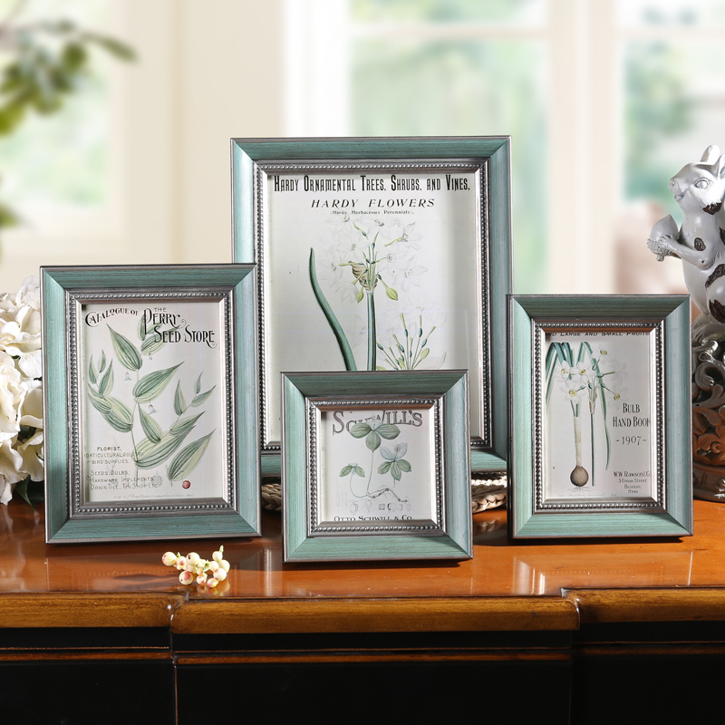 Wall Decoration Gifts : Vintage style solid wood photo frame home desktop wall