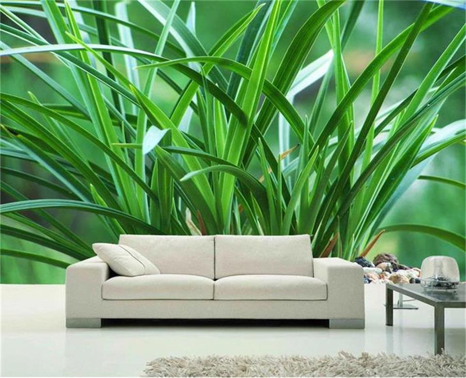 photo wallpaper custom 3d mural living room potted orchid flowers 3d photo sofa TV background non-woven wallpaper for walls 3d 3d wallpaper custom mural non woven wall sticker 3d flowers and blue sky and white cloud ceiling murals wallpaper for walls 3d