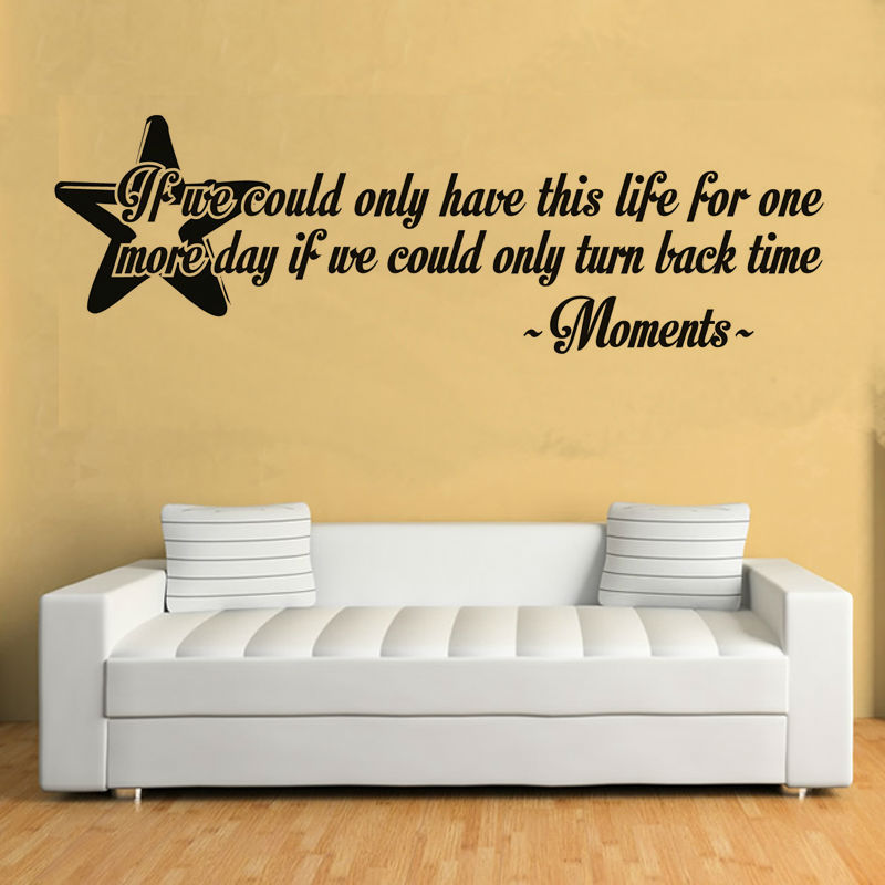 Hot Item Star Shape Wall Stickers Black Self Adhesive Living Room Home Decor English Sentence