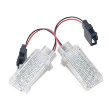 Hot  LED Car Door Courtesy Laser Logo Projector Light Footwell Luggage Lamp For AUDI/VW/SKODA Lambo