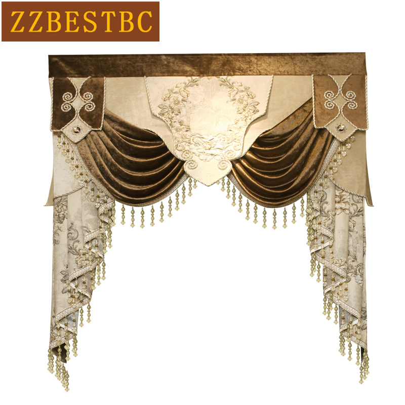 US $39.9 50% OFF|23 styles Luxurious Valance designs for living room  bedroom Dedicated purchase Valance link not include cloth curtain and  tulle-in ...