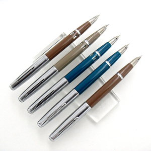 Image 2 - Wing Sung 601a 0.5mm Fine Nib Vacumatic Fountain Pen Metal+ABS Body Silver Cap