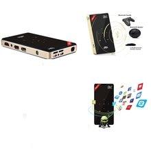 H96p 4k android projetor mini dlp wifi 2gb + 16 amlogic s905x casa teatro portátil suporta bluetooth