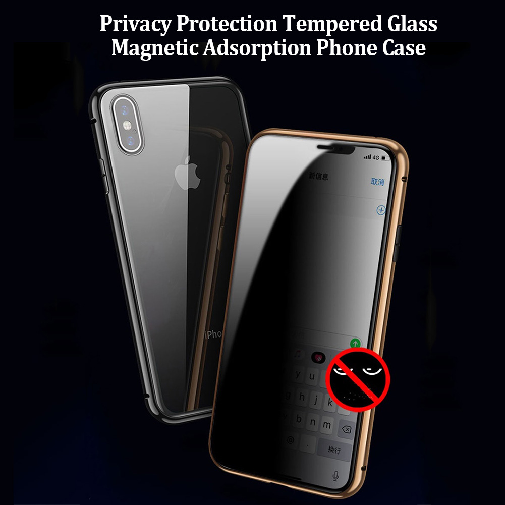 Electronics - Privacy Magnetische Gehard Glas Case voor iPhone X XS MAX 8 7 Plus