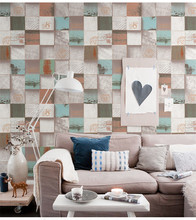 ФОТО retro grid wallpaper waterproof background for living room pvc vinyl wall paper roll stereoscopic look wallcoverings 10mx53cm