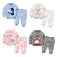 Baby Girl Clothes Sets Long Sleeved Cotton Spring Children Baby Boy Clothes Cartoon Baby Sports Two
