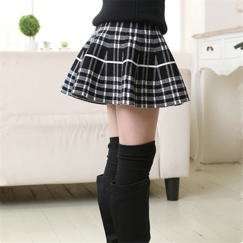 Autumn Winter Baby Girl Skirt Knitting Party Saias Skirts Girls Tutu ... 1572ea361271