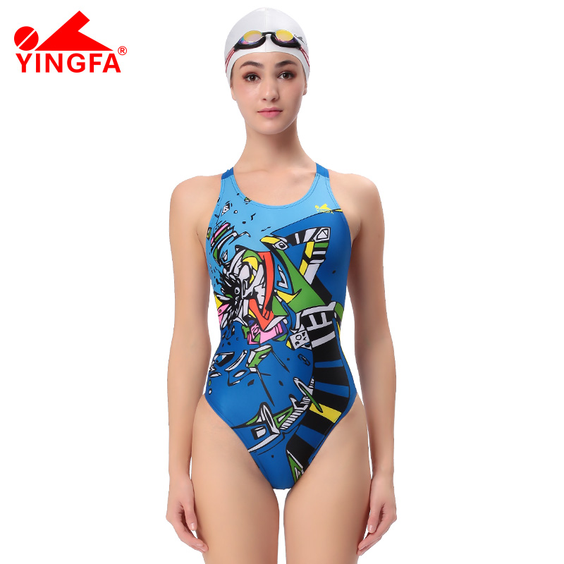 YingfaOne Piece Women Swimsuit Professional Swimwear Lady Bathing Suit Sport Racing Competition Tight Bodybuilding Swimming Wear phinikiss printed racing swimwear large size one piece suit professional swimsuit sport bathing suit competition 2016 triathlon