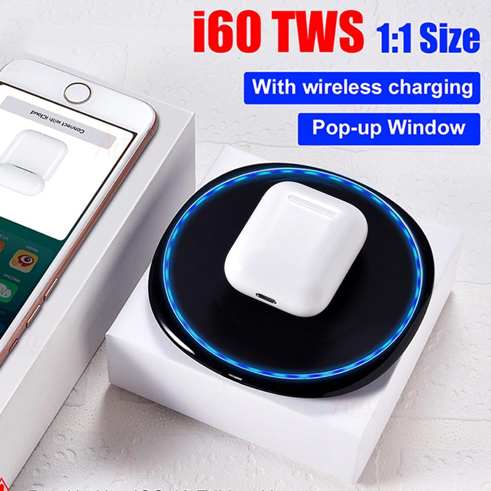 I60 TWS Pop up 1:1 réplique utilisation séparée sans fil Bluetooth écouteurs QI sans fil de charge Bluetooth 5.0 sans fil stéréo casque